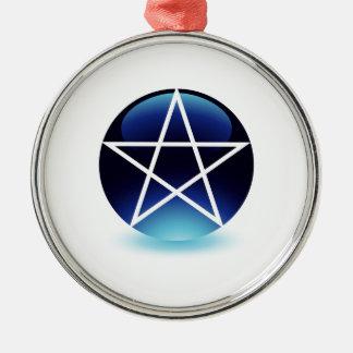 Símbolo religioso del pentagram del satanism ornato