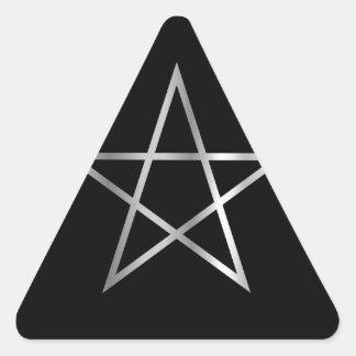 Símbolo religioso del pentagram del satanism calcomanías triangulos
