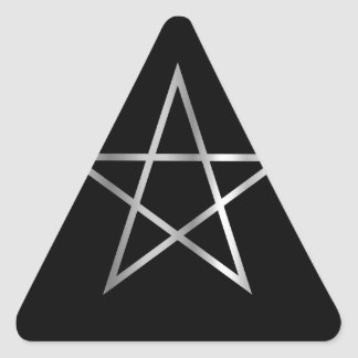 Símbolo religioso del pentagram del satanism colcomanias de trianguladas