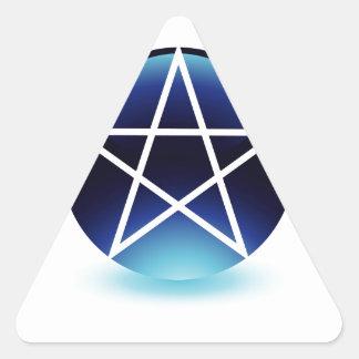 Símbolo religioso del pentagram del satanism calcomania de trianguladas