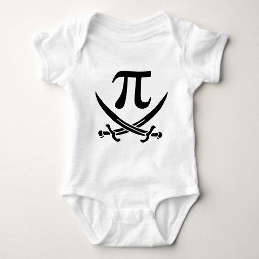 símbolo Rogelio alegre del pirata pi Playera