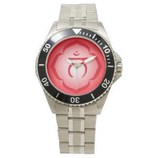 Símbolo rojo de Chakra de la raíz - 1r Chakra - Reloj De Mano