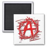 Símbolo rojo de la anarquía imán de frigorifico