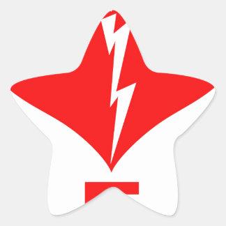 Símbolo rojo del AED y del corazón Pegatina En Forma De Estrella