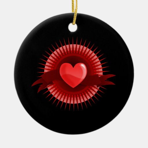 Símbolo rojo del corazón ornamentos de reyes magos