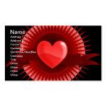 Símbolo rojo del corazón plantilla de tarjeta de negocio