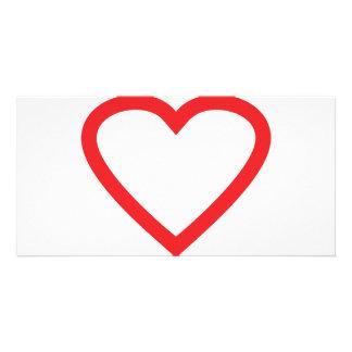 símbolo rojo del corazón tarjetas con fotos personalizadas