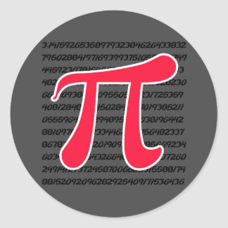 Símbolo rojo del escarlata pi etiqueta