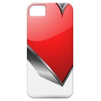 símbolo rojo del hogar 3D iPhone 5 Carcasas