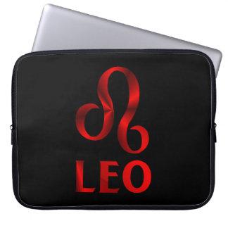 Símbolo rojo del horóscopo de Leo Funda Computadora