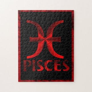 Símbolo rojo del horóscopo de Piscis Puzzles