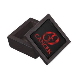 Símbolo rojo del horóscopo del cáncer caja de recuerdo de calidad