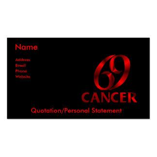 Símbolo rojo del horóscopo del cáncer tarjetas de negocios