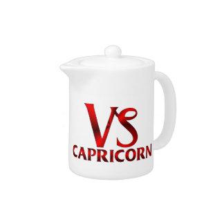 Símbolo rojo del horóscopo del Capricornio