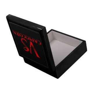 Símbolo rojo del horóscopo del Capricornio Caja De Recuerdo