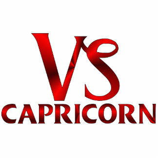 Símbolo rojo del horóscopo del Capricornio Esculturas Fotográficas