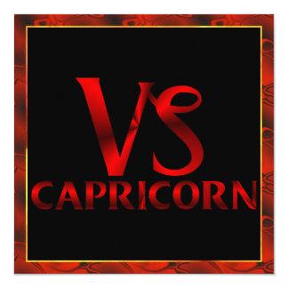 Símbolo rojo del horóscopo del Capricornio Invitaciones Personalizada