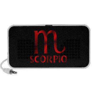 Símbolo rojo del horóscopo del escorpión portátil altavoz