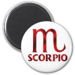 Símbolo rojo del horóscopo del escorpión imanes