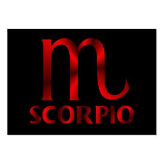Símbolo rojo del horóscopo del escorpión tarjetas de visita grandes