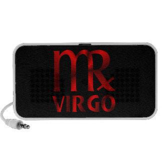 Símbolo rojo del horóscopo del virgo mini altavoz