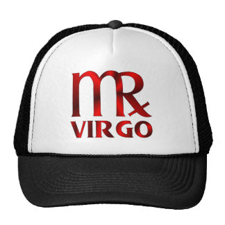 Símbolo rojo del horóscopo del virgo gorra