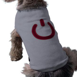 Símbolo rojo del poder playera sin mangas para perro