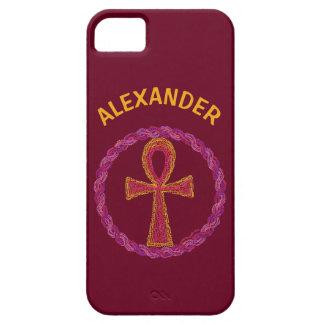 Símbolo rojo Egipto antiguo Wicca de Ankh del oro iPhone 5 Case-Mate Funda