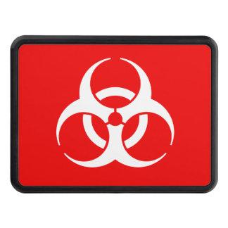 Símbolo rojo y blanco del Biohazard Tapas De Remolque