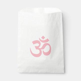 Símbolo rosa claro de OM Bolsa De Papel
