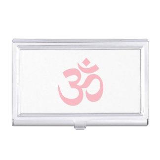 Símbolo rosa claro de OM Caja De Tarjetas De Presentación