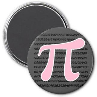 Símbolo rosa claro del pi imanes