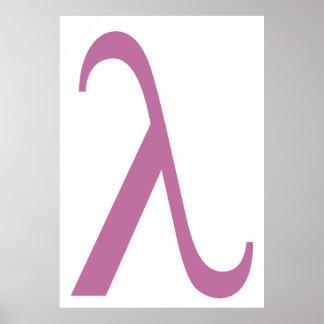 Símbolo rosado de LGBT Lamda Poster