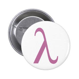 Símbolo rosado de LGBT Lamda Pin Redondo De 2 Pulgadas