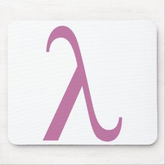 Símbolo rosado de LGBT Lamda Alfombrillas De Ratones