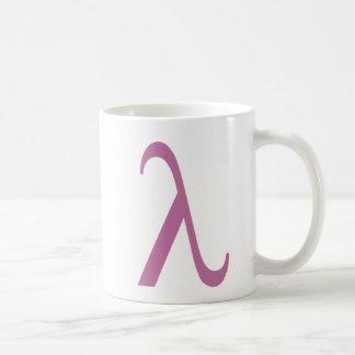 Símbolo rosado de LGBT Lamda Tazas
