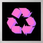 Símbolo rosado impresiones