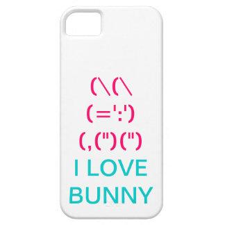 Símbolo rosado lindo del conejito iPhone 5 protectores
