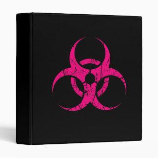 Símbolo rosado rasguñado del Biohazard en negro