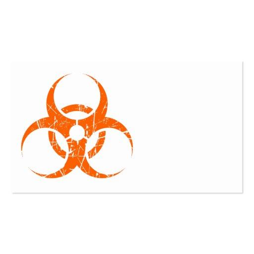 Símbolo rosado rasguñado del Biohazard Tarjeta De Negocio