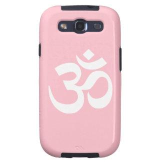 Símbolo rosado y blanco de OM Galaxy SIII Cárcasas