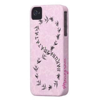 Símbolo rosado y negro del infinito de Hakuna iPhone 4 Case-Mate Fundas