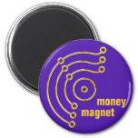 Símbolo RUNA/ORO, dinero, imán, violeta