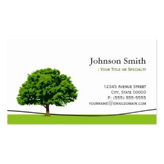 Símbolo sabio del roble - servicio profesional del tarjetas personales