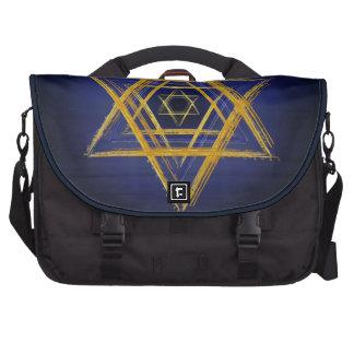 Símbolo sagrado de la geometría del Hexagram Bolsas De Ordenador