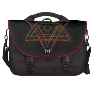 Símbolo sagrado de la geometría del Hexagram Bolsas De Portátil