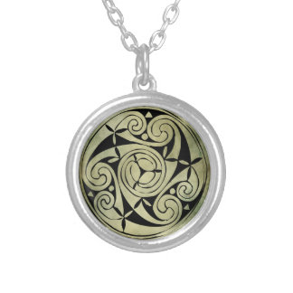 símbolo sagrado irlandés céltico colgante redondo