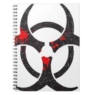 Símbolo sangriento del Biohazard Libreta Espiral
