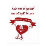 Símbolo sano de la conciencia de la cardiología postal