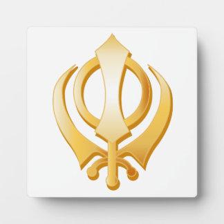 Símbolo sikh placa para mostrar